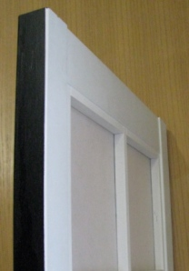 Shoji panel with black front and white back