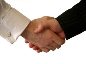 Design Shoji, a handshake image