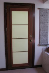 shoji over a French door